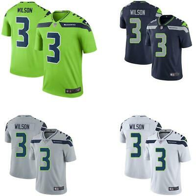 Russell Wilson Men Game Jersey White / Gray / Navy / Green  Seahawks