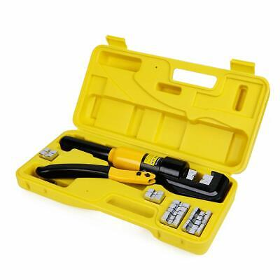 10 Tons Hydraulic Wire Battery Cable Lug Terminal Crimper Crimping Tool With ...