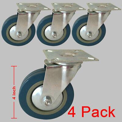 4 Pack 4 Heavy Duty Caster Wheels Swivel Plate Pvc Wheels
