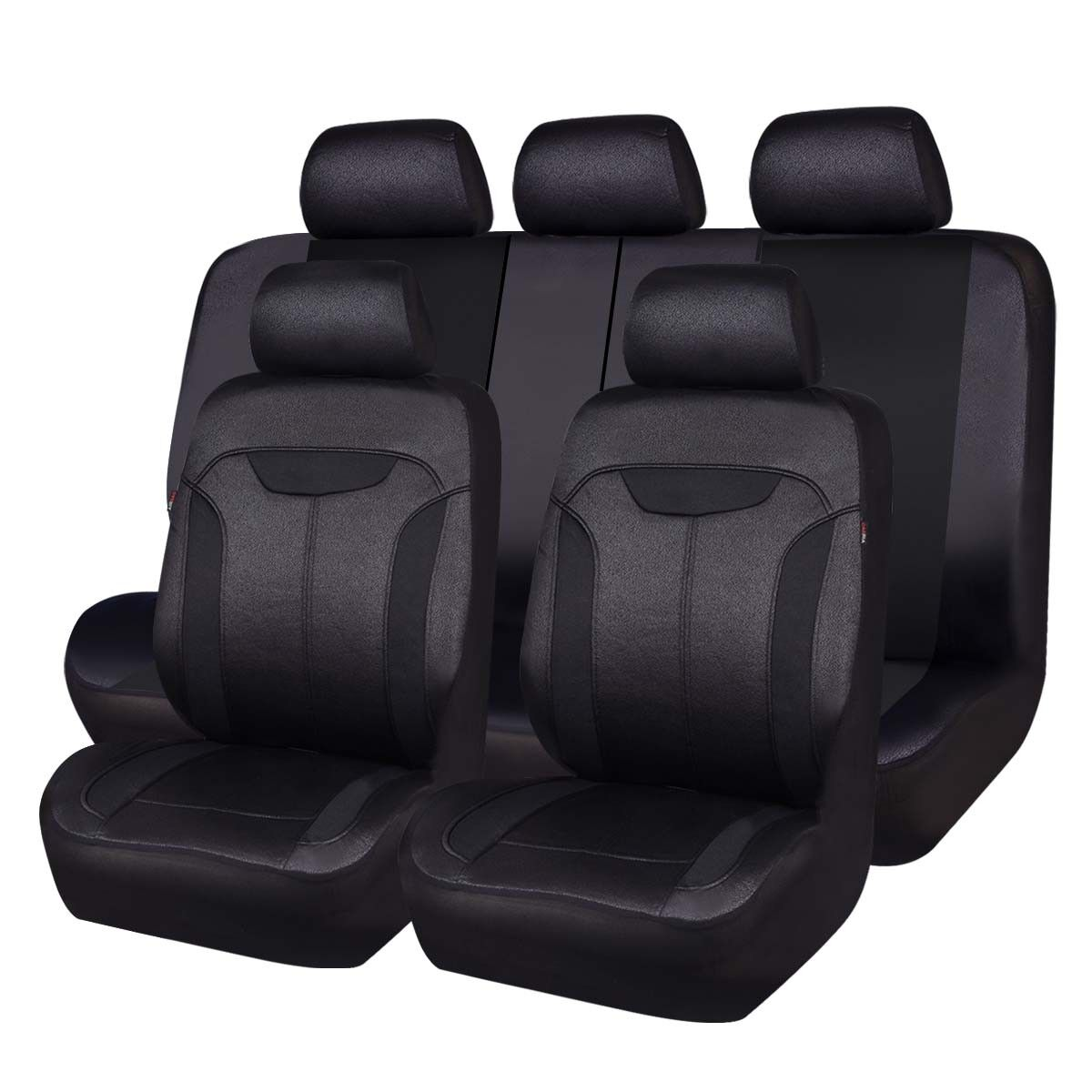 Pleasing Details About Carpass Car Seat Covers With Breathable Aritificial Leather Black Color Car Good Andrewgaddart Wooden Chair Designs For Living Room Andrewgaddartcom
