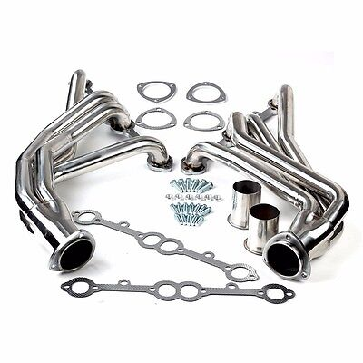 EXHAUST/MANIFOLD STAINLESS STEEL LONG TUBE HEADER FOR ROUNDED-LINE SBC V8 77-84