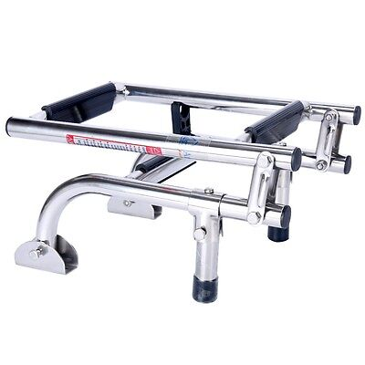 Marine Boat Foldable Stainless Steel 3 Step Ladders Stern Mount with Rubber Grip