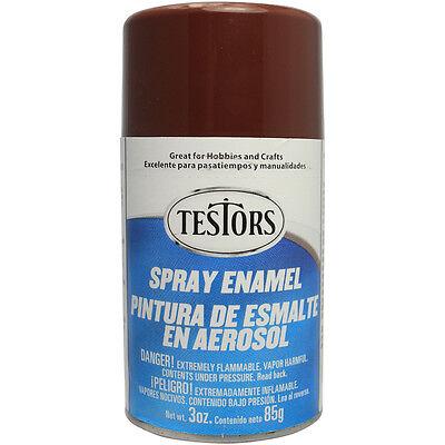 Testors Model Master GLOSS Brown Enamel Spray Paint Can  3 oz. 1240
