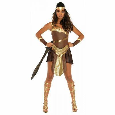 Warrior Princess Costume Adult Amazon Gladiator Halloween Fancy Dress LARGE ()