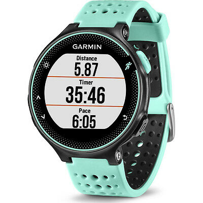 Garmin 010-03717-48 Forerunner 235 GPS Wrist Based Running Watch in Frost Blue