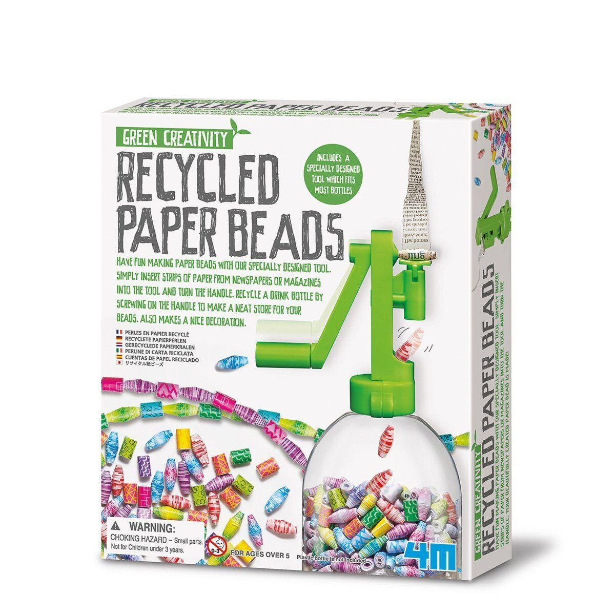 4M Kit per Creare Perline di Carta Riciclata - Giochi Creativi per Bambini -