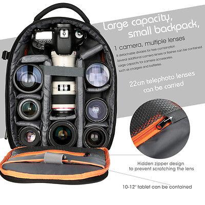 K&F Concept DSLR SLR Camera Backpack Bag Case Waterproof fr Canon EOS Nikon Sony