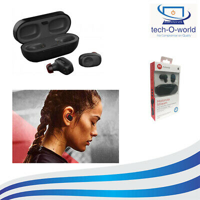 MOTOROLA STREAM DUAL EAR WIRELESS BLUETOOTH STEREO HD AUDIO HEADSET