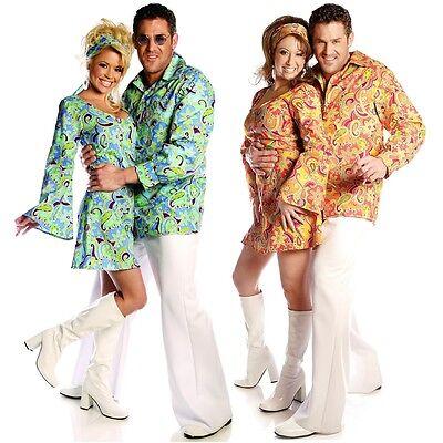 60s Swinger Costume Shirt Adult Halloween Fancy Dress (60s Men Costume)