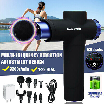 Electric Massage Gun Massagepistole Massager Muscle Massagegerät mit 8 Köpf