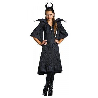 Disney Maleficent Costume Kids Halloween Fancy Dress