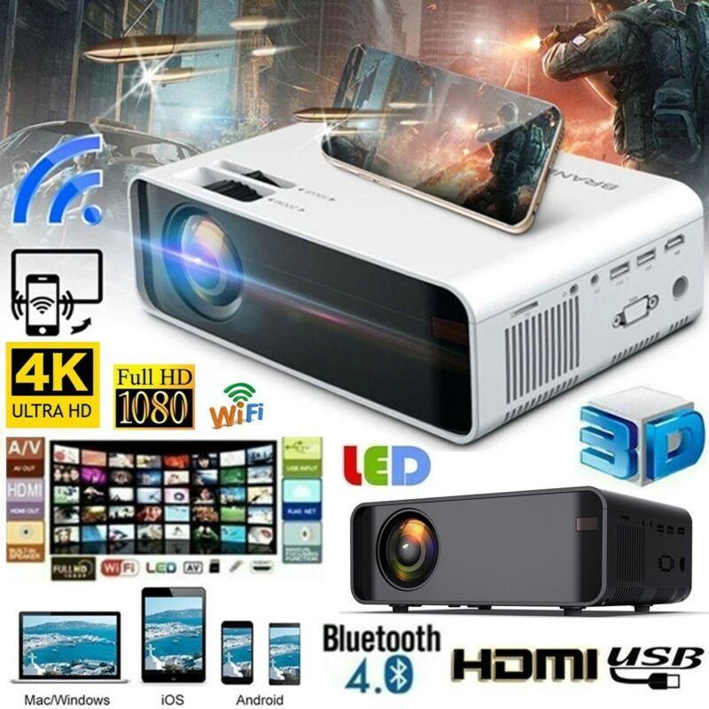 Projector 23000 Lumens 1080P 3D LED 4K Mini WiFi Video Home Theater Cinema HDMI