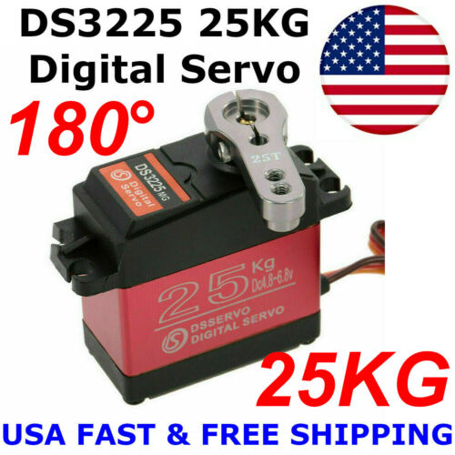 DS3225 25KG Metal Gear High Torque Waterproof Digital Servo For RC Z3U0 US Stock