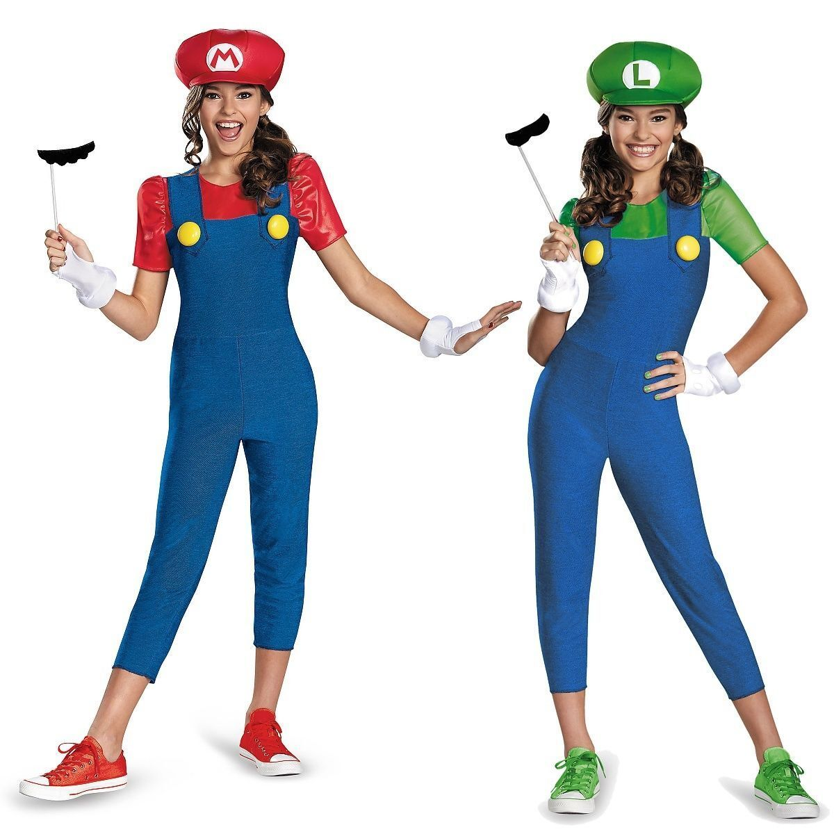 disguise super mario and luigi video game tween girl halloween