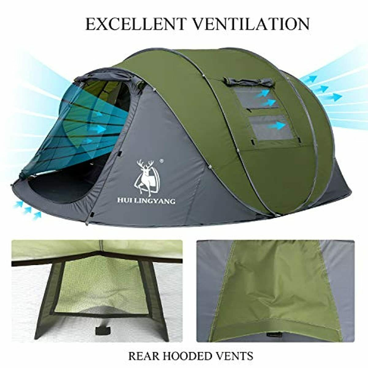 6 Pop Up Double Layer Instant Tents
