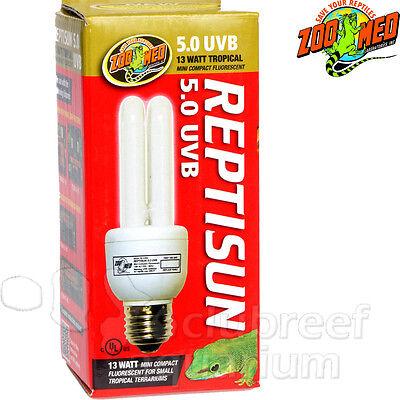 13 Watt Reptisun 5 UVB Mini Fluorescent Tropical Reptile Terrarium Bulb Zoo Med