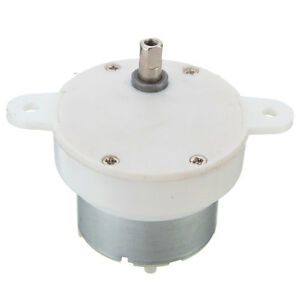 12v dc high torque slow speed electric motor gearbox 3 rpm