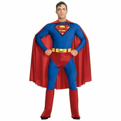 Superman Costume Mens (Superman Adult Mens Superhero Super Friends Party Costume Fancy Suit)