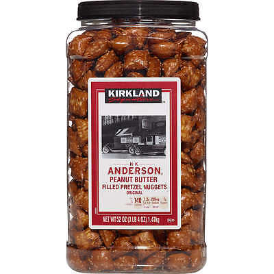 Anderson Peanut Butter Pretzels - Kirkland Signature H.k Anderson Peanut Butter Filled Pretzels Nuggets - 1.47kg