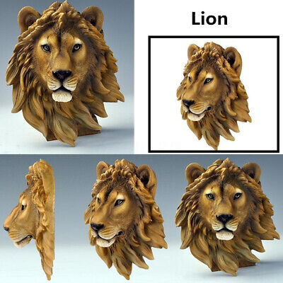 Ornament Animal Head Resin Sculpture Wall Hanging Home Office Decor -