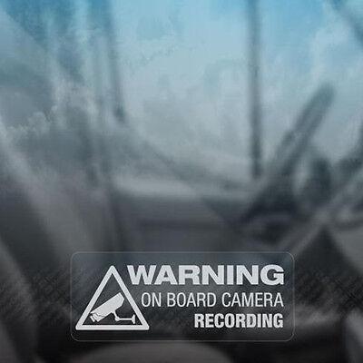 Fun Stickers (Warning On Board Camera Recording Sticker Car Window Truck Auto Fun Vinyl)