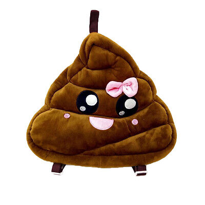 Emoji Smily Pink Poop Pillow Backpack Emoticon Cushion Pillow Stuffed Plush Toy ](Toy Poop)