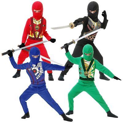 Charades Ninja Rächer Assassin Series 4 Kinder Halloween Kostüm (Ninja Assassin Kostüme)
