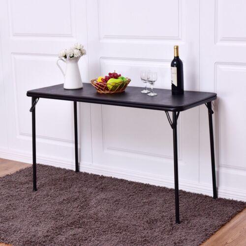"Portable Folding 48""x20"" Rectangle Serving Table Kitchen Din"