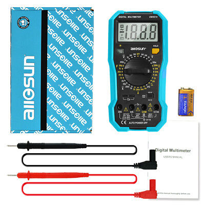 Large Lcd Digital Multimeter Acdc Currentvolt Ohm Electrical Multi Tester