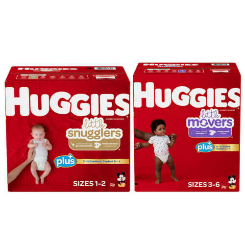 Huggies Plus Diapers Sizes 1 - 6
