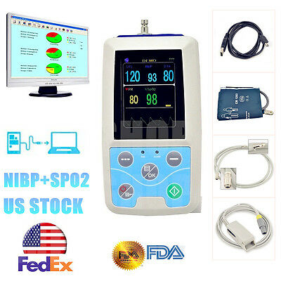 2018 Newest Portable Vital Sign Patient Monitor Nibpspo2pr Pc Software Usa