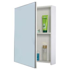 wide wall mount mirrored bathroom medicine cabinet storage mirror door