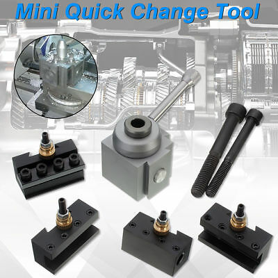 Mini Aluminum Quick Change Tool Post Holder Kit Set For 7x10 1214 Lathes