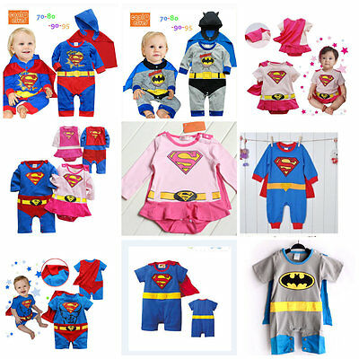 Toddler Baby Fancy Dress Party Costumes Super Hero Jumper Gift Size 0-24months.