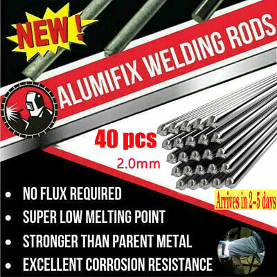 40x 2.0mm Aluminum Solder Melt Welding Flux Cored Rods Wire Brazing Free-mail