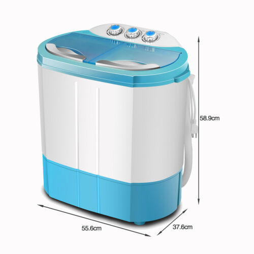 Mini 4.5kg Dorm Portable Washing Machine Twin Tub Compact Dryer Laundry Washer