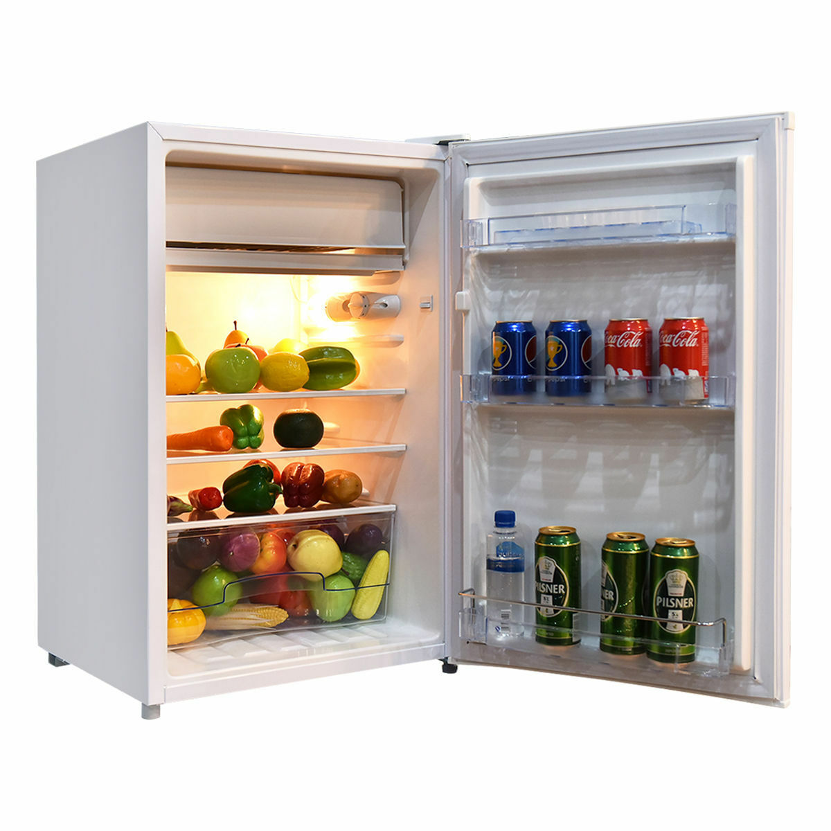 Costway EP22771 Kühlschrank mit Gefrierfach - 123 l, Weiß | eBay