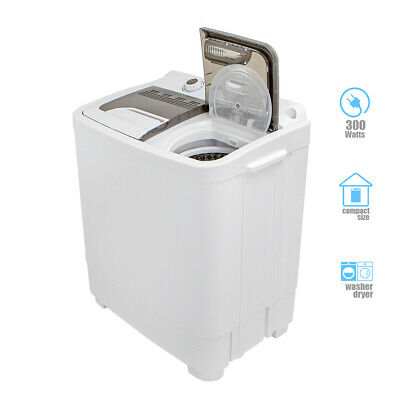 Compact Portable Washer & Dryer with Mini Washing Machine and Spin Dryer-...