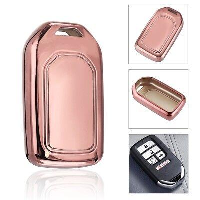 TPU Remote Smart Key Fob Case Shell Cover Pink For Honda Accord Civic Pilot CR-V
