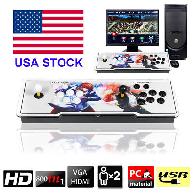 800 Pandora's Box 4s Double Stick Retro Arcade Console with Video Audio Games US