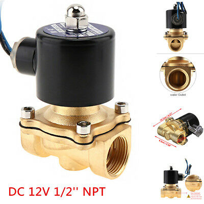 12 Npt 12v Dc Electric Solenoid Valve Water Air Gas Control Valve Brass Npt