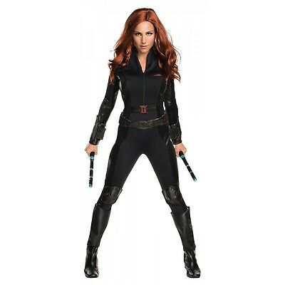Black Widow Costume Adult The Avengers Superhero Halloween Fancy Dress