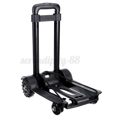 165lb Folding Cart Hand Truck Convertible Push Dolly Collapsible Trolley 4-wheel