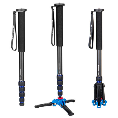 Professional 65-inch Camera Monopod with Folding Three Feet Support Stand