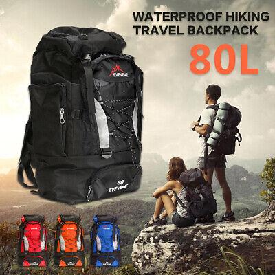 80L Outdoor Camping Backpack Rucksack Travel Climbing Hiking