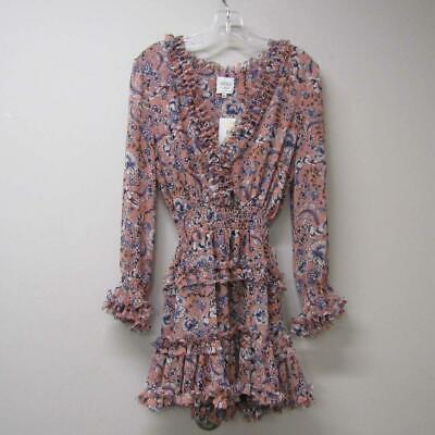 Misa Women's US XS Bridget Smocked Waist Mini Dress Petals Of Lille