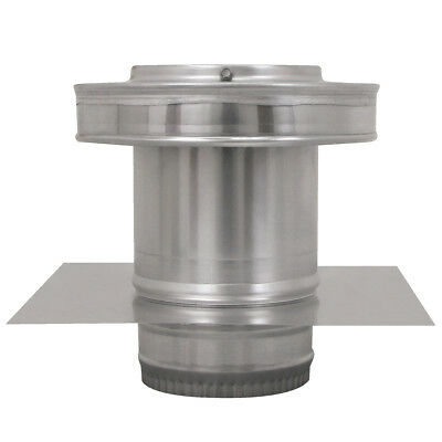 5 In. Diameter Aluminum Round Back Roof Jack Vent Cap For Existing Duct Work