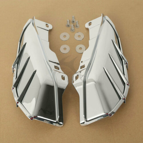 Chrome Air Deflector W Trims For Harley Touring Road