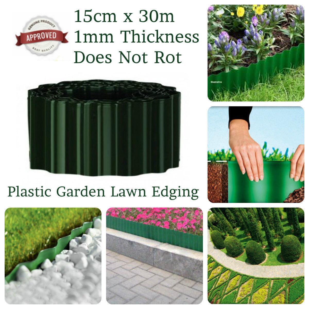 30m PLASTIC GARDEN GRASS LAWN BORDER EDGING BORDER FENCE WALL PATH DRIVEWAY R