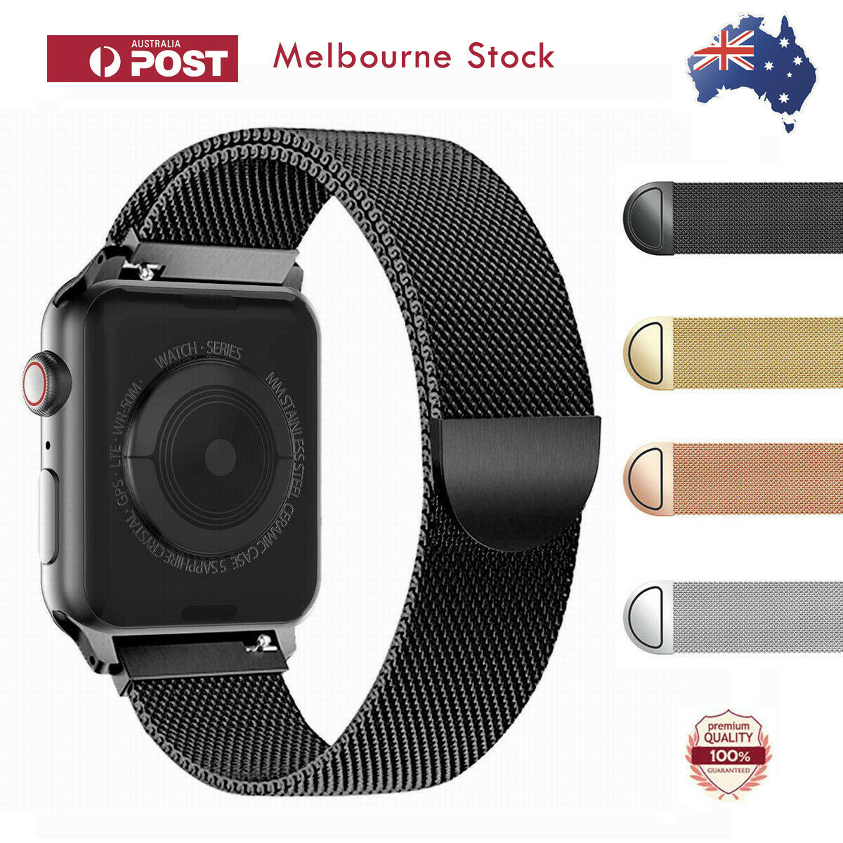 Jewellery - For Apple Watch Series 6 5 4 3 2 1 SE Stainless Steel Milanese Strap Band 40 44